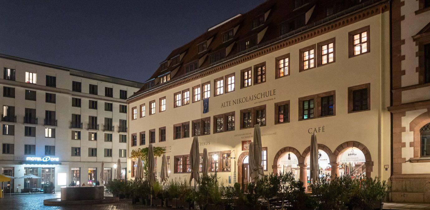 Festliche Veranstaltung der Kulturstiftung Leipzig anlässlich der Wiedereröffnung der Alten Nikolaischule im Jahr 1994 am 23.10.2019 in Leipzig (Sachsen).