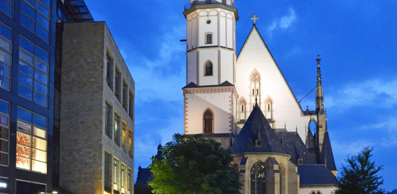 Thomaskirche  - Blick von der Petersstraße